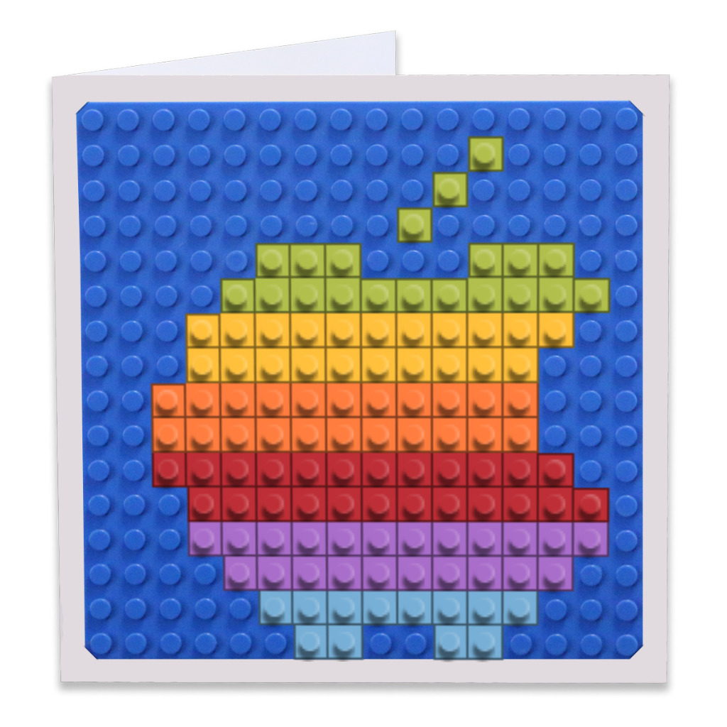 Apple Rainbow Build On Greeting Card Brik