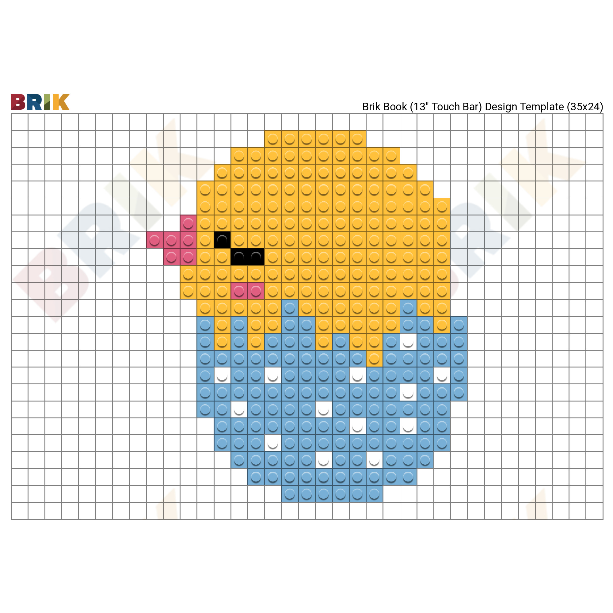 Easter Chick Pixel Art Brik