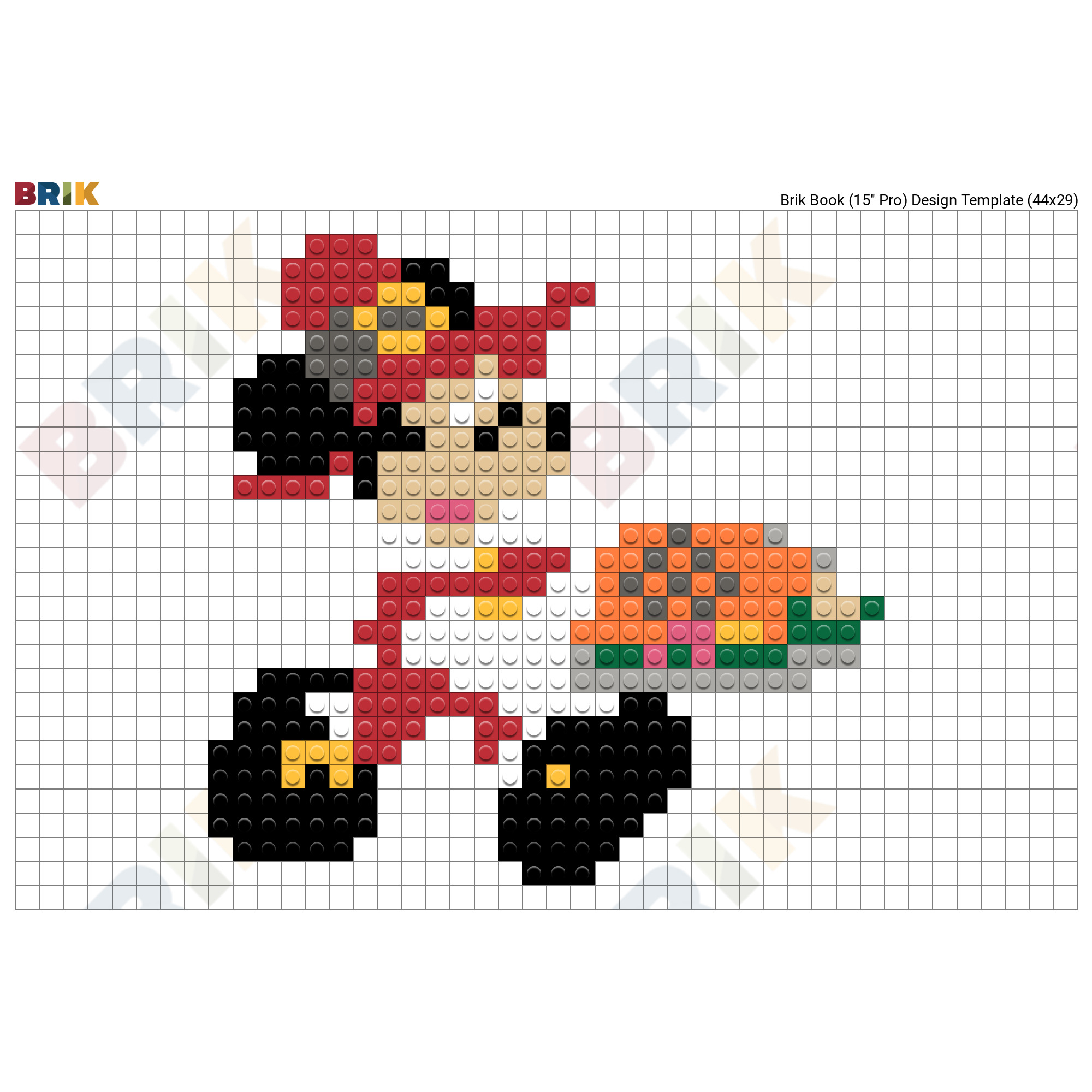 Mickey Mouse Pixel Art mickey pixel art – brik
