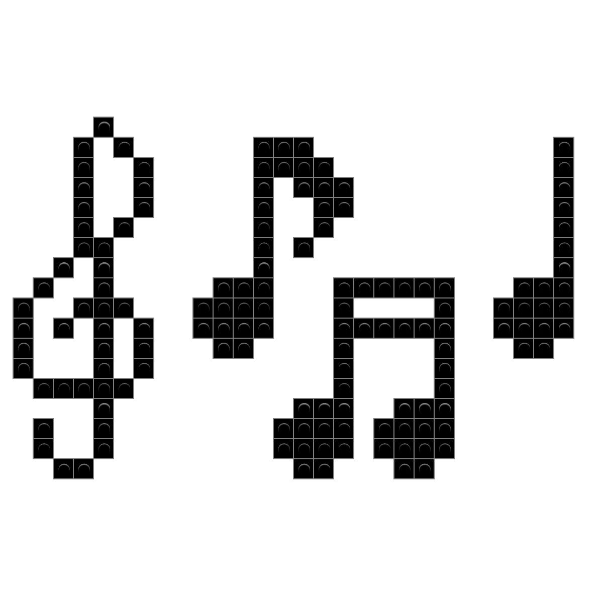 Music notes pixel art brik buycottarizona