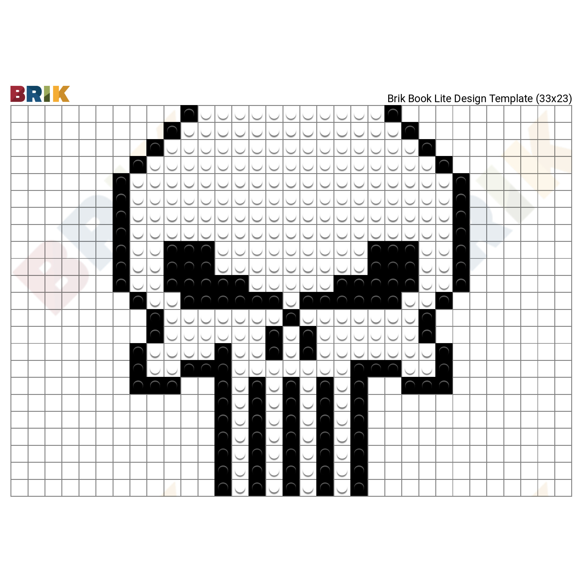 punisher skull pixel art brik